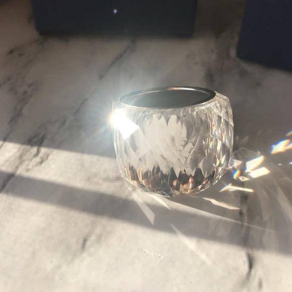 Clear Swarovski Crystal Nirvana Ring Size 8 / 9